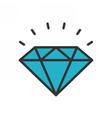 Diamond outline icon vector image