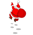 cheerful santa from back vector image vector image