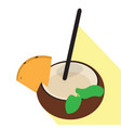 isolated coconut cocktail vector image
