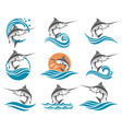 swordfish set vector image vector image