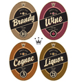 labels for alcohol vector image vector image