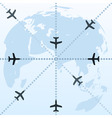 flight routes vector image vector image