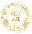 Needle work design vector image vector image