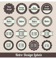 retro labels vector image
