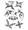 pictures of different tattoos vector image vector image