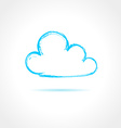 Abstract blue cloud on gray background vector image