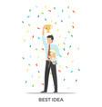 best idea triumph on white vector image
