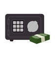box safety money bills icon graphic isolated vector image