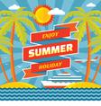 Enjoy summer holiday - concept banner vector image