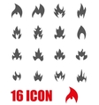 grey file icon set vector image