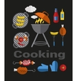 Icons Barbecue Grill vector image