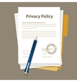 privacy policy document paper legal aggreement vector image