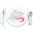 serving plates and cutlery vector image