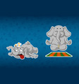 sticker elephantshe does yoga stumbled and fell vector image
