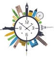 Travel clock vector image