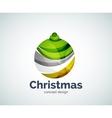 Christmas ball logo template vector image