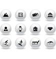 Web buttons Switzerland symbols vector image vector image