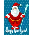 Happy New Year card Santa symbol vector image