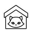 Cat nose funny animal house pet outline vector image