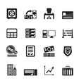 Silhouette business and office icon vector image vector image