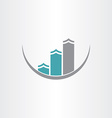 buildings icon abstract design vector image