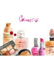 Glamorous make up watercolor cosmetics vector image