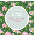 Baby Shower Card - with Waterlily Floral Design vector image vector image