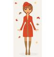 Autumn girl vector image