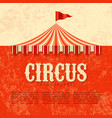 circus advertisement vintage poster background vector image