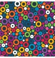 Colorful seamless pattern with circles vector image