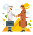 deal partnership agreement middle east vector image