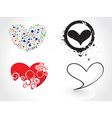 hearts design vector image