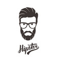 Hipster fashion bearded man portrait in glasses vector image