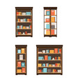 home library with books vector image