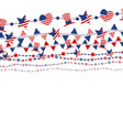 usa flag on white background for independence day vector image