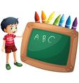 Crayon Blackboard vector image vector image