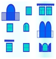 seamless background with blue windows vector image vector image
