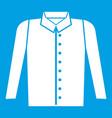 Shirt icon white vector image