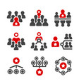 leadergrouporganization icon vector image