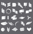 Biggest collection of white flags vector image