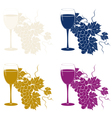 colored vine template vector image vector image