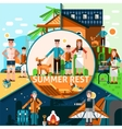 Summer Rest Concept vector image