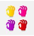 realistic design element hand vector image