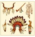 Totem Native American set vector image