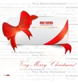 gift cards with ribbon background vector image