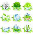 Green Icon Set vector image vector image