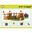 Game template for counting animals vector image
