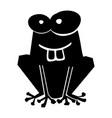 black icon funny toad cartoon vector image