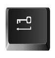 Button to enter the key vector image