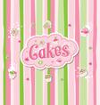 Cake Label Doodle Design vector image